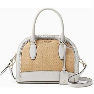 Kate Spade Reiley Straw Medium Dome Satchel Bag